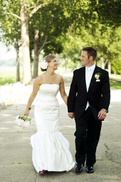 Stacie and Bryan's Lambeau Field Wedding