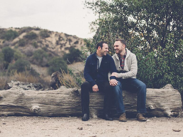 Eaton Canyon engagement photo session