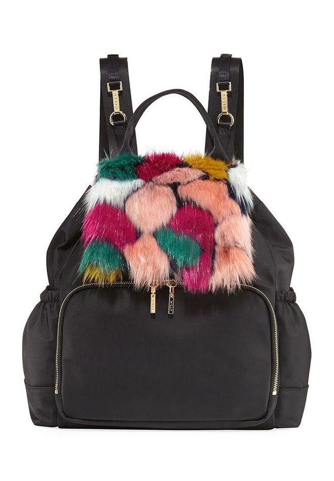 98642e298246 designer-diaper-bags-milly-minis-faux-fur-backpack
