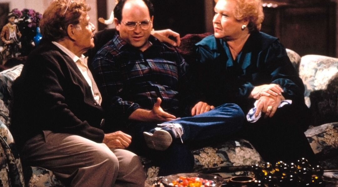 still from the television show seinfeld, george with his parents