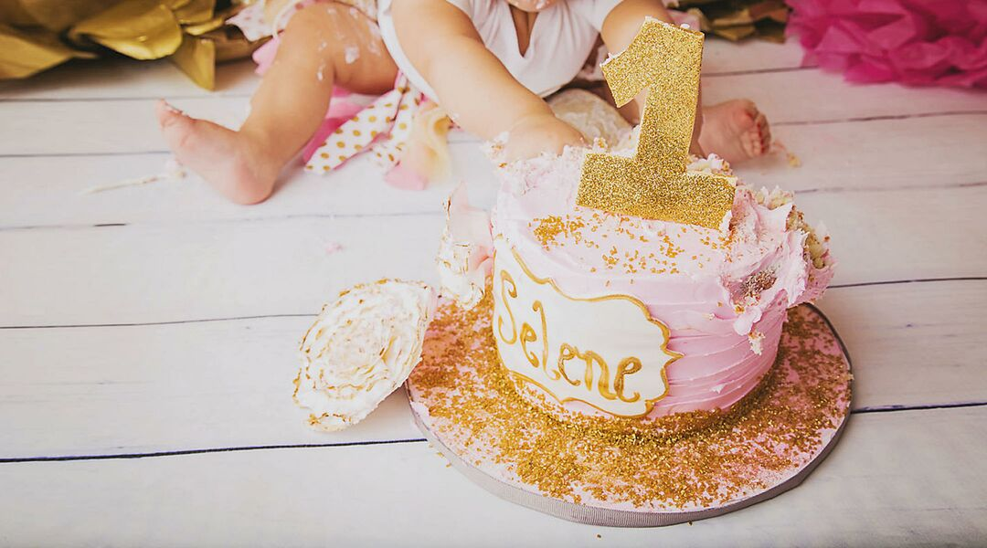 Baby Girl One Year Old Cake Smash