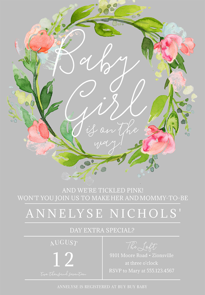 Baby Shower Invitation Wording Ideas - Baby girl shower invitation wording