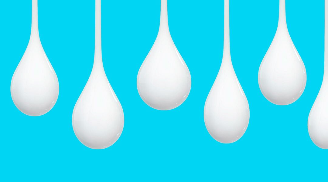 milk drops representing breastmilk that's been hand expressed