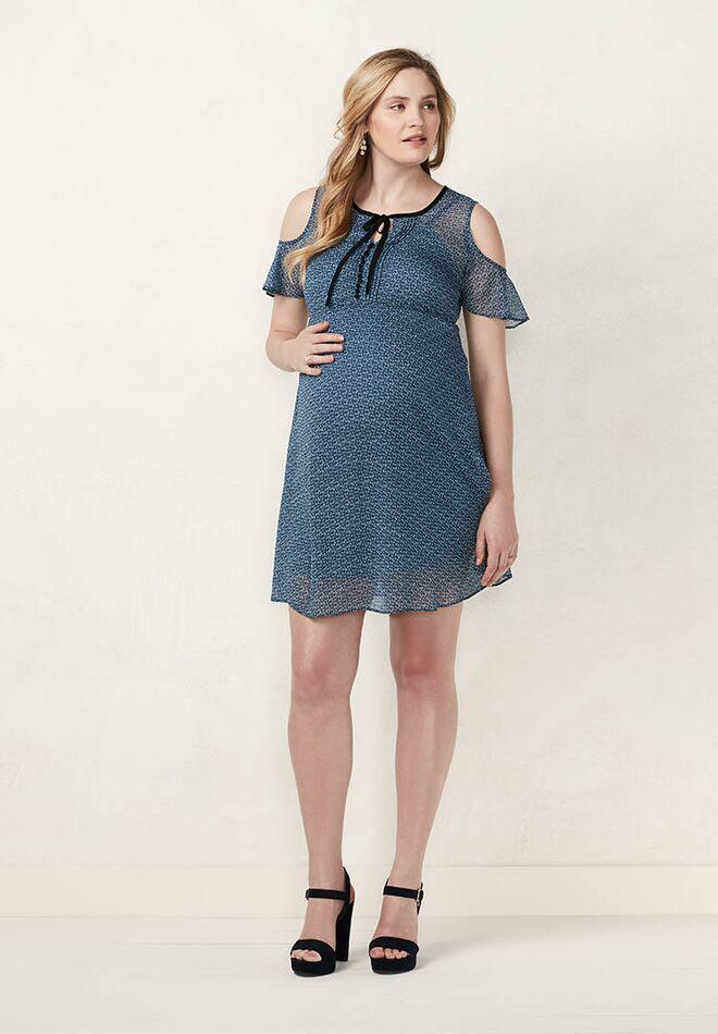 a38bfe0f14d05 Maternity LC Lauren Conrad Cold-Shoulder Empire Dress. Photo: Kohl's