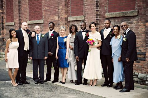 catherine & lionel: gallery wedding with 1920's flair