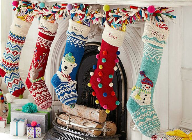 baby first christmas merry bright stockings