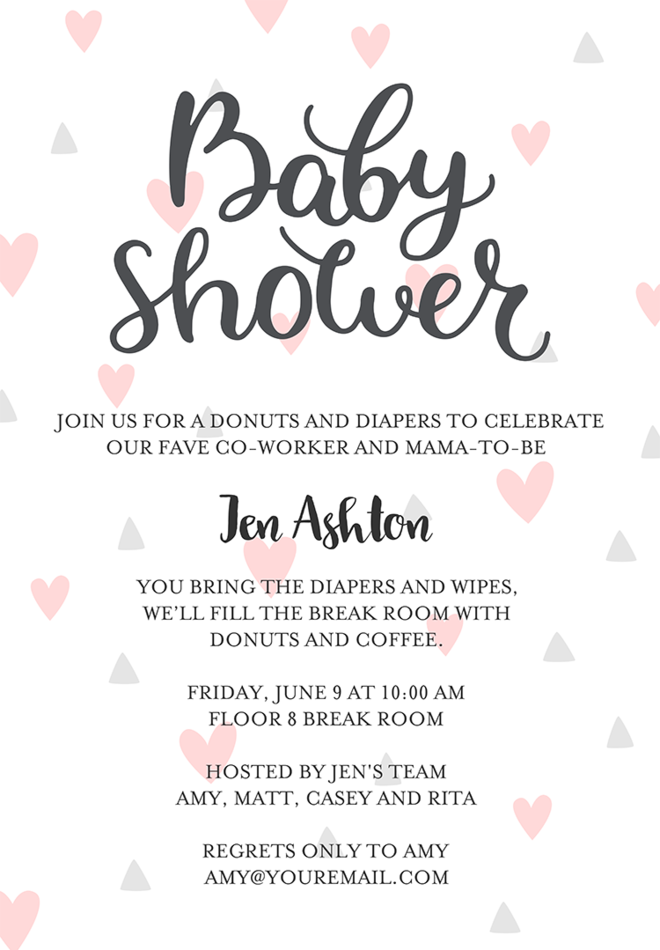 baby shower invitation text