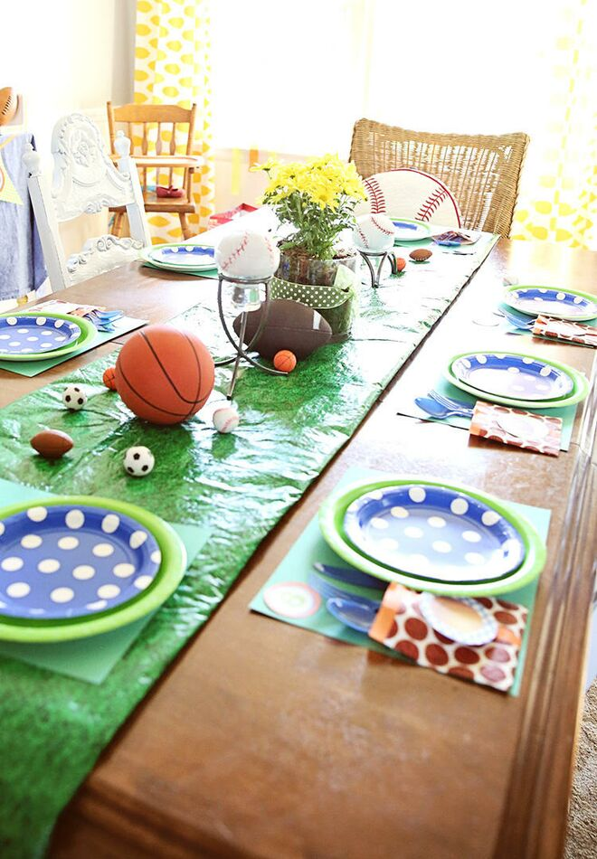 Second Birthday Party Themes Sports Table