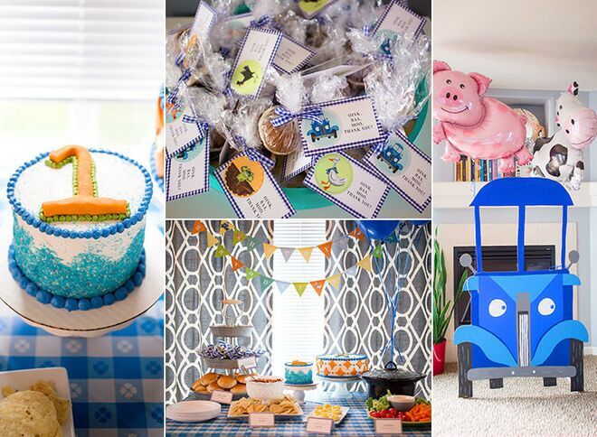 Little Blue Truck First Birthday Party