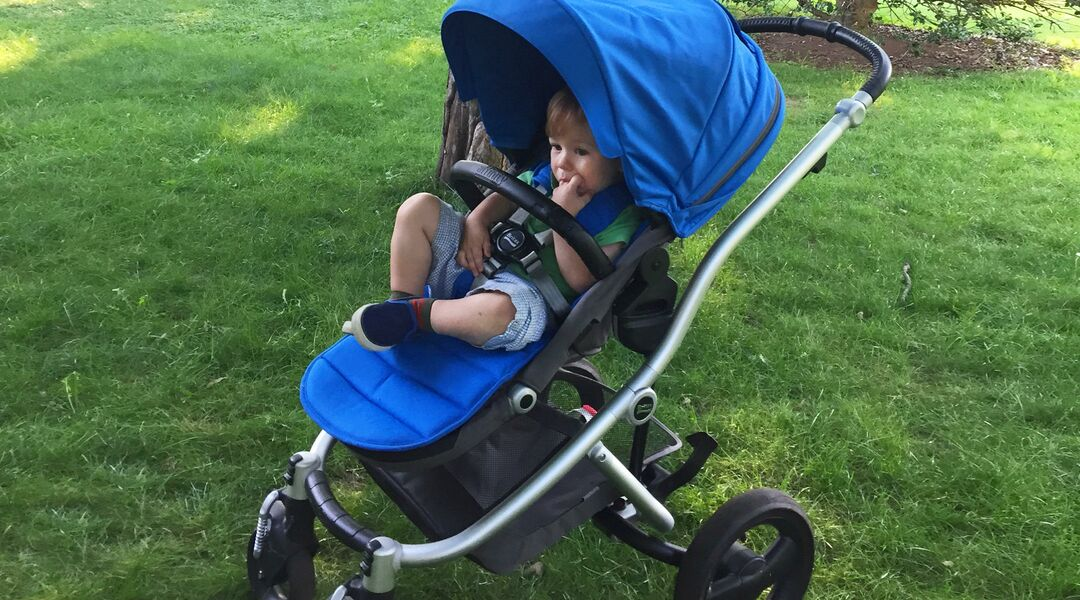 Toddler in Britax Affinity Stroller.