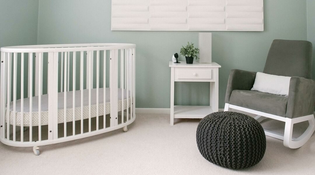 minimal baby nursery