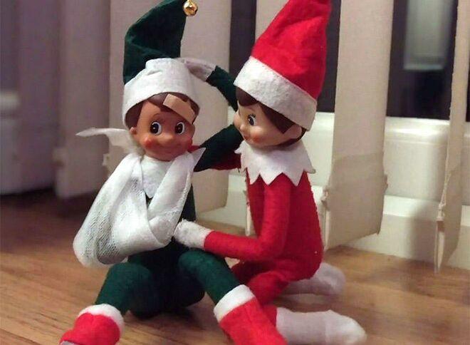50 fun elf on the shelf ideas rh thebump com when do elves on the shelves come back cute elfs on the shelves