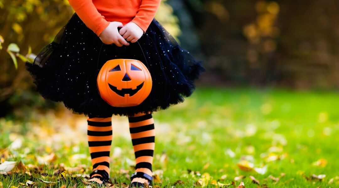 Little Girl dressed for Halloween