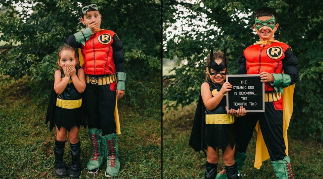 Batman-themed pregnancy announcement
