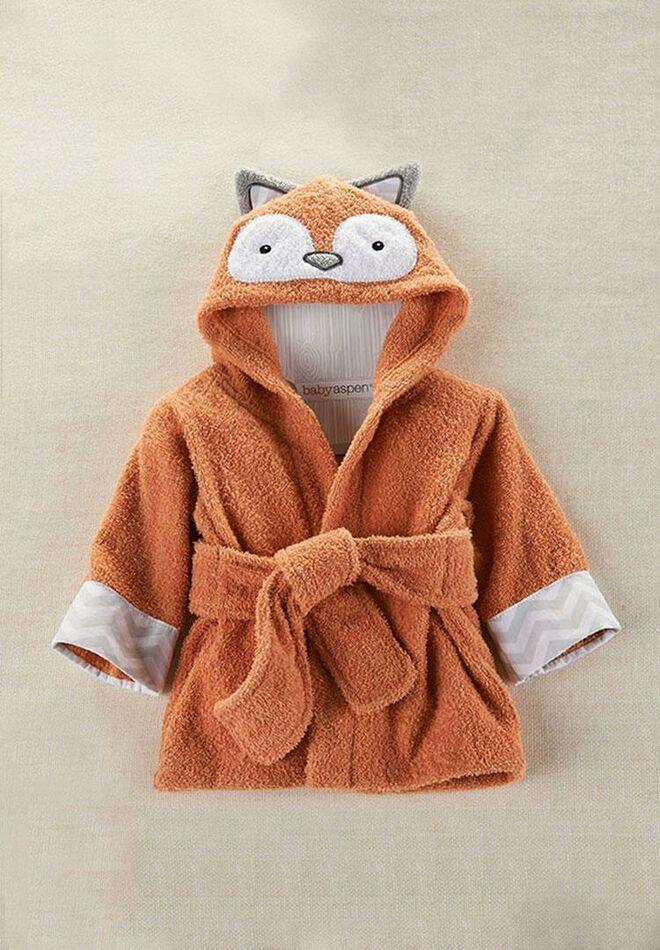 Baby Aspen Hooded Fox Robe