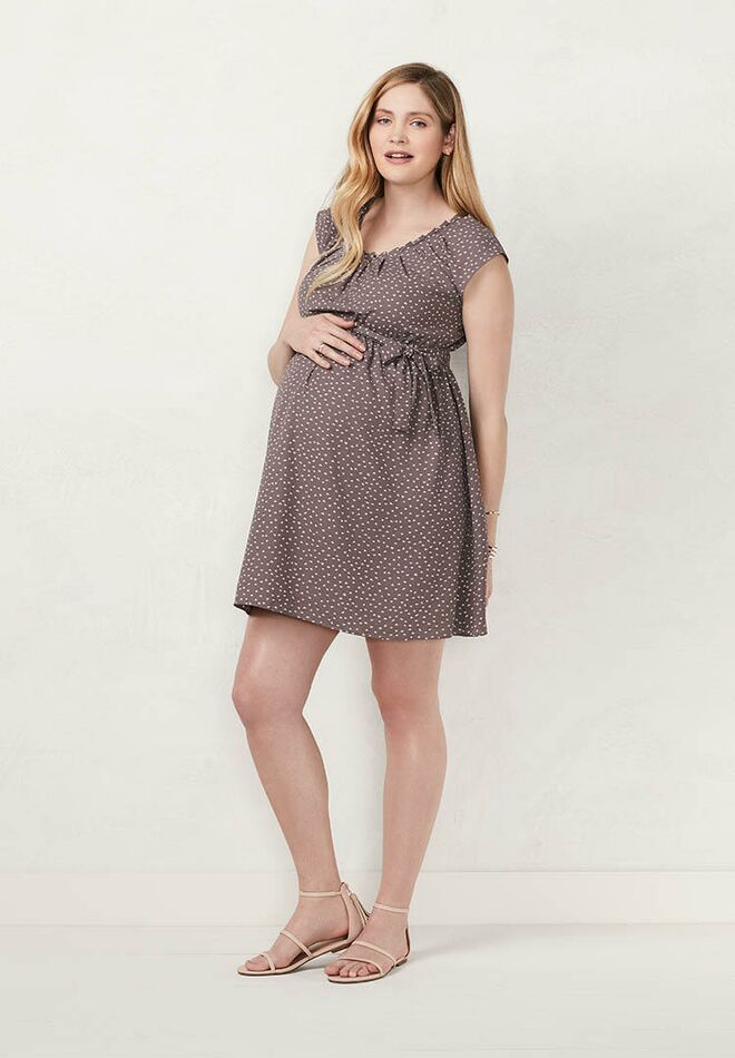 934bfefcd470f Maternity LC Lauren Conrad Pleated Fit & Flare Dress spark. Photo:  Kohl's