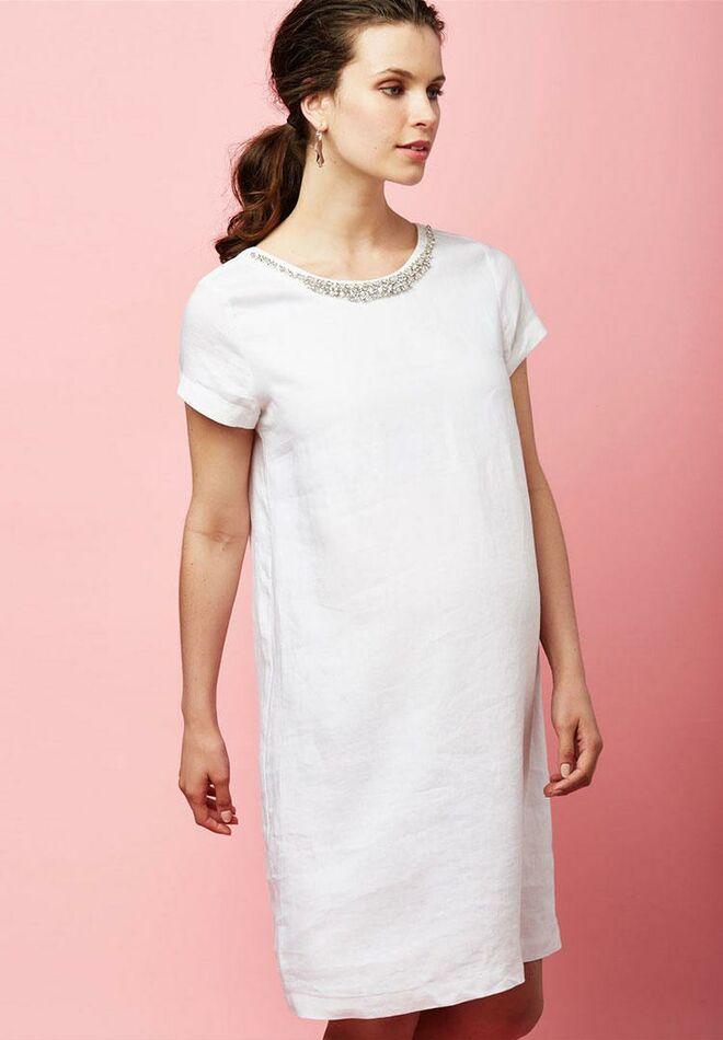 be5d192a6b Pietro Brunelli embellished short maternity wedding dress