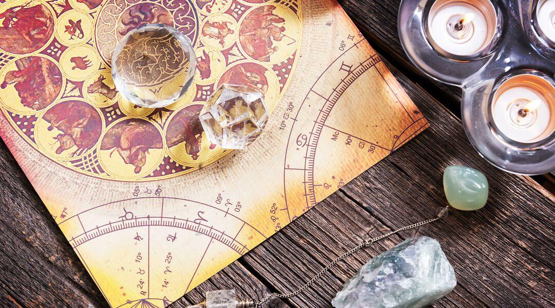 Zodiac table and symbols