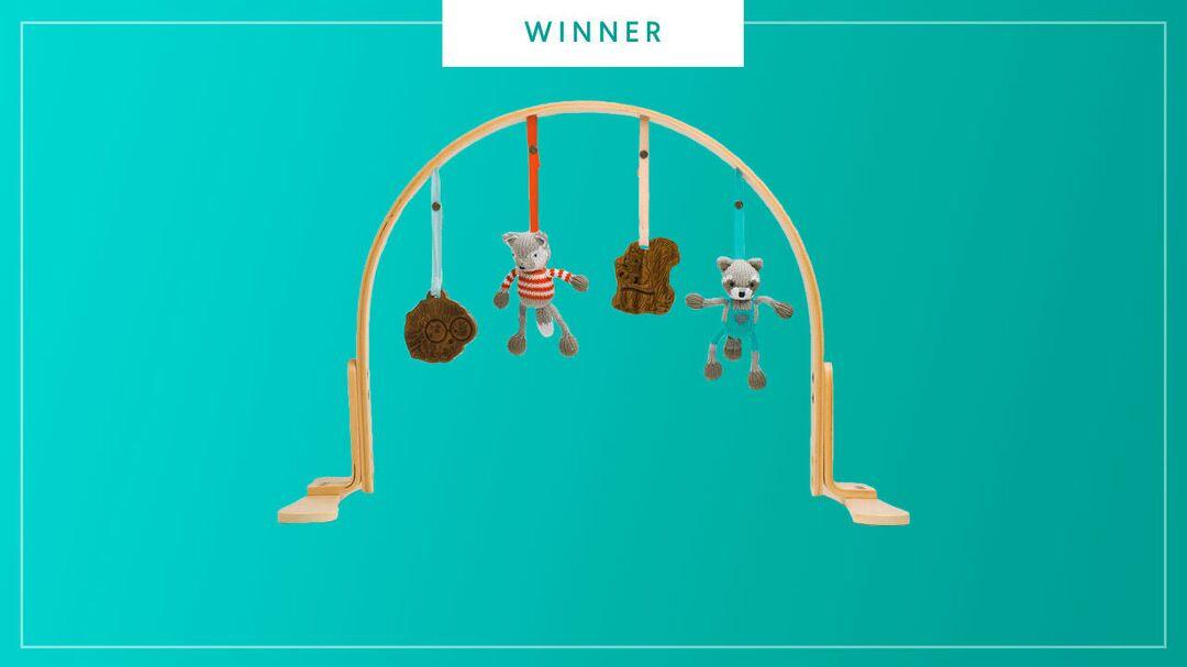 Finn & Emma play gym wooden arch