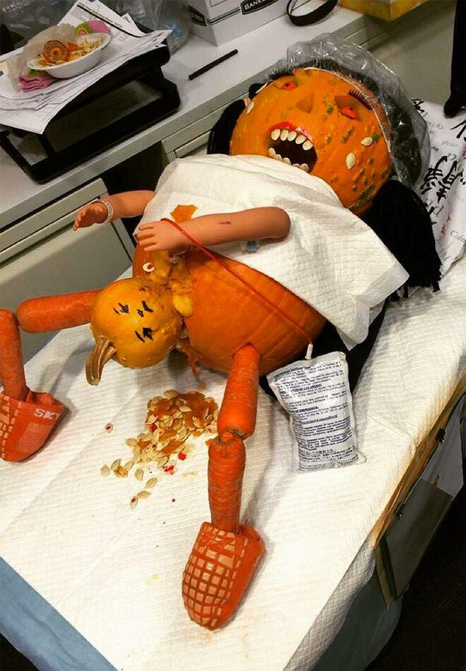 Pumpkin Giving Birth