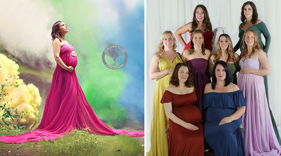 e32fe17cc6 Photographer Hosts Second Rainbow Baby Maternity Shoot