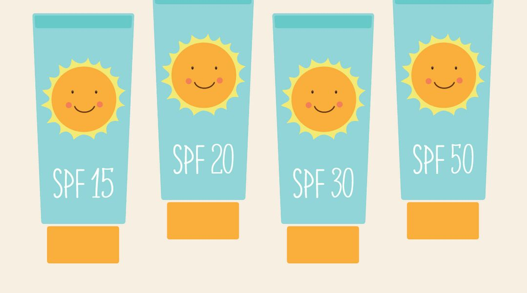 Illustration of sunscreen