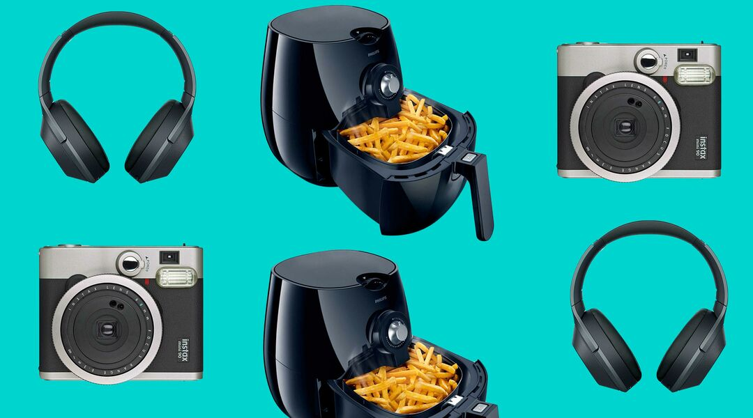 cool gifts for dad, headphones, air fryer and camera
