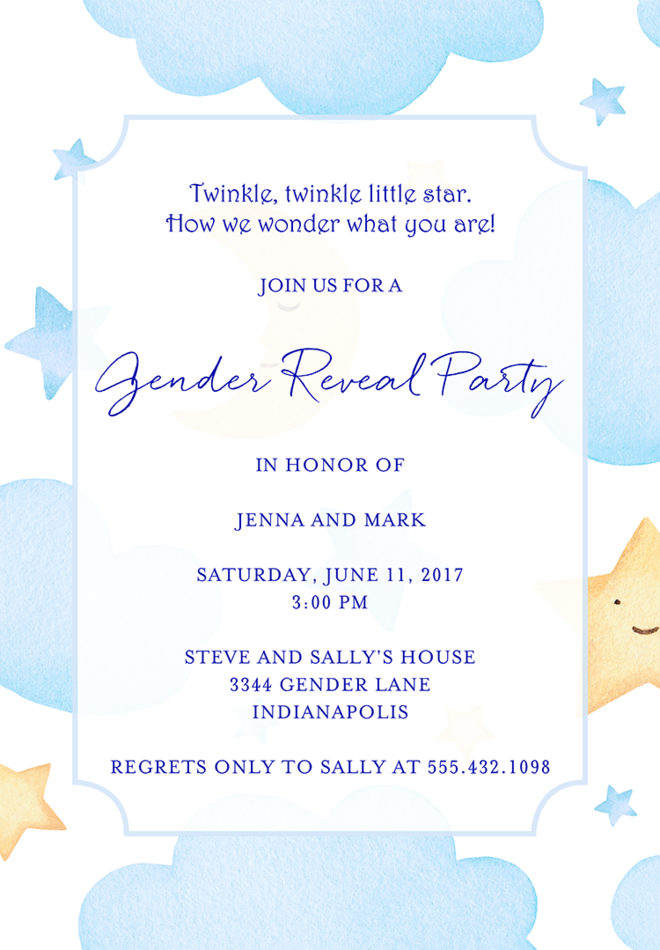 22 baby shower invitation wording ideas gender reveal invitation wording 4 stopboris Image collections