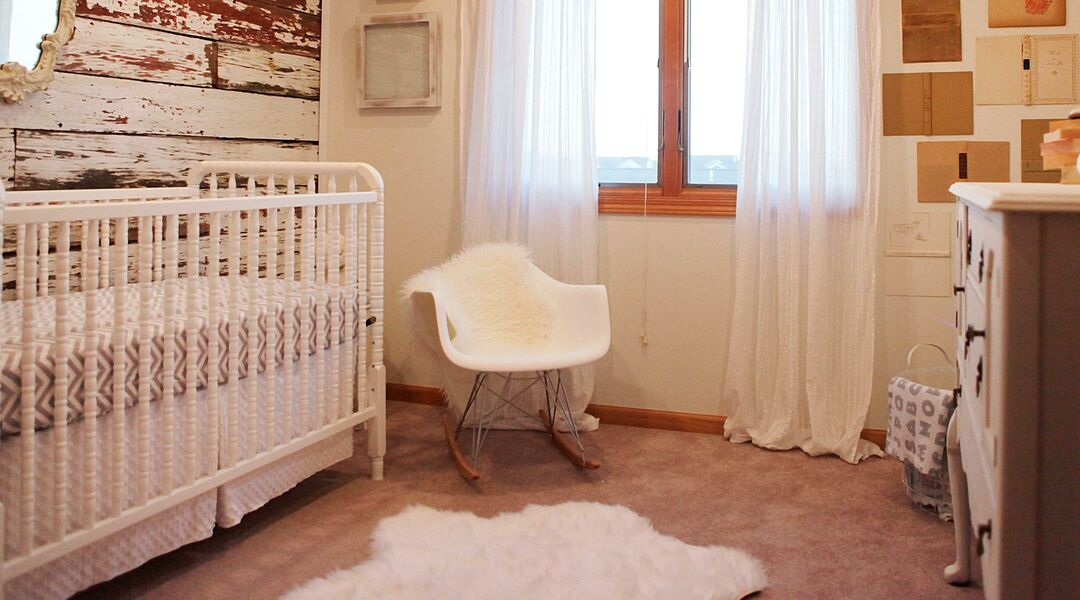 nursery with a rustic style