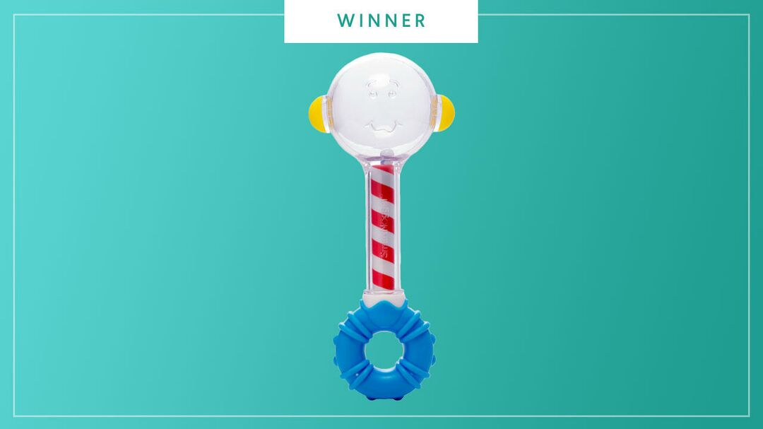 The NogginSeek Peek and Seek Rattle wins the 2017 Best of Baby award from The Bump