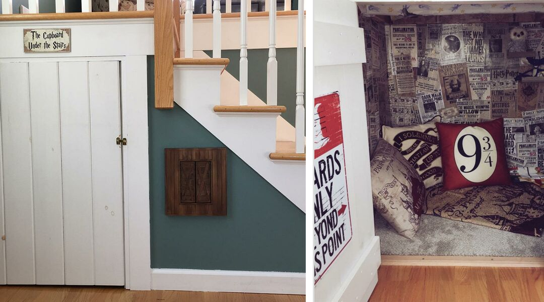 real-life Harry Potter cupboard under the stairs