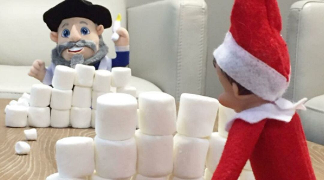 Amazing Elf On The Shelf And Mensch On A Bench Poses