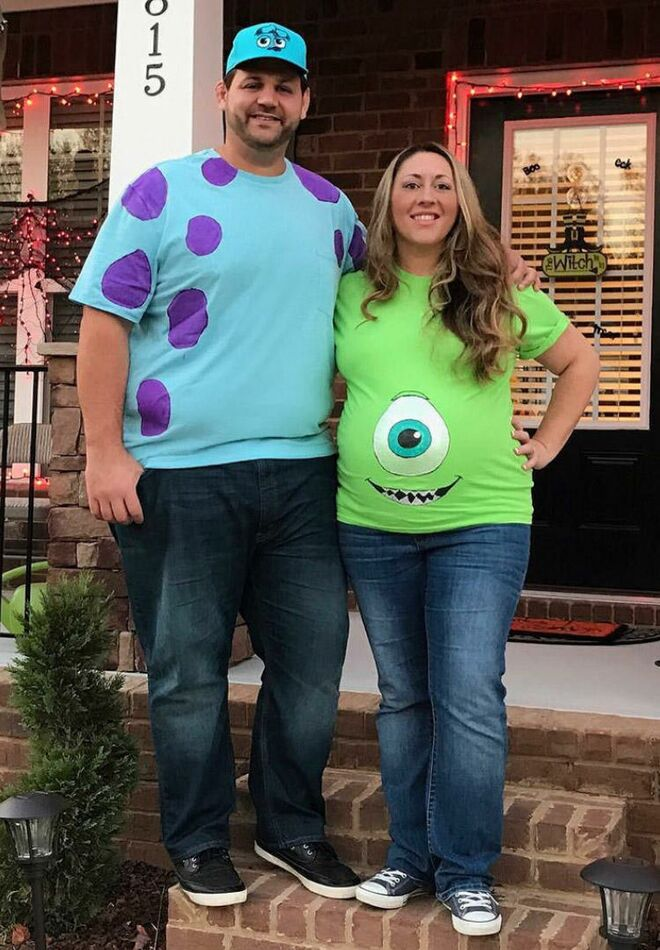 maternity-halloween-costumes-monsters-inc  sc 1 st  The Bump & 26 Best Maternity Halloween Costumes