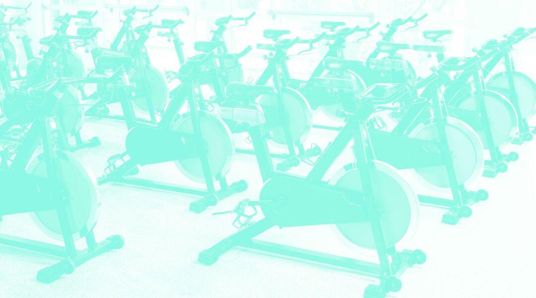gym spin bikes