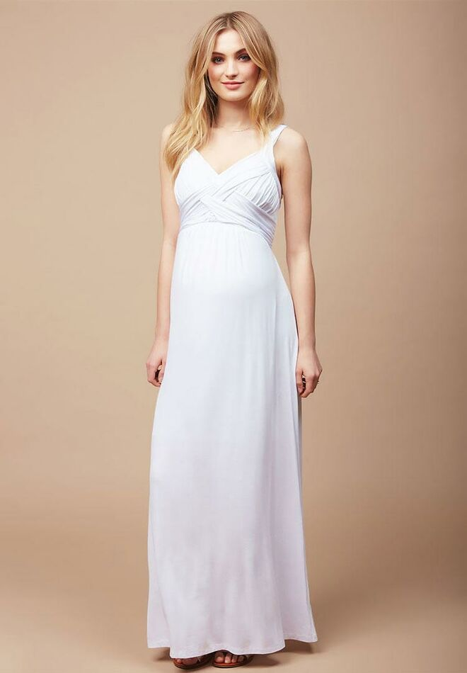 a4a086150c781 Destination Maternity cross back cheap maternity wedding dress
