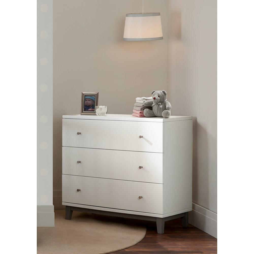 Delta Children Tribeca 3 Drawer Dresser Gray White From
