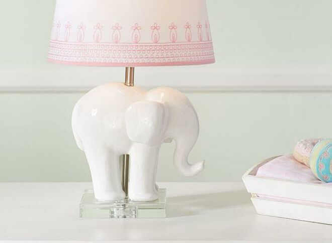 Pottery barn kids ceramic elephant base