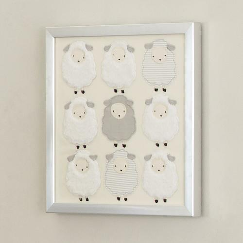 Lambs & Ivy Goodnight Sheep Wall Decor silver from Lambs & Ivy ...