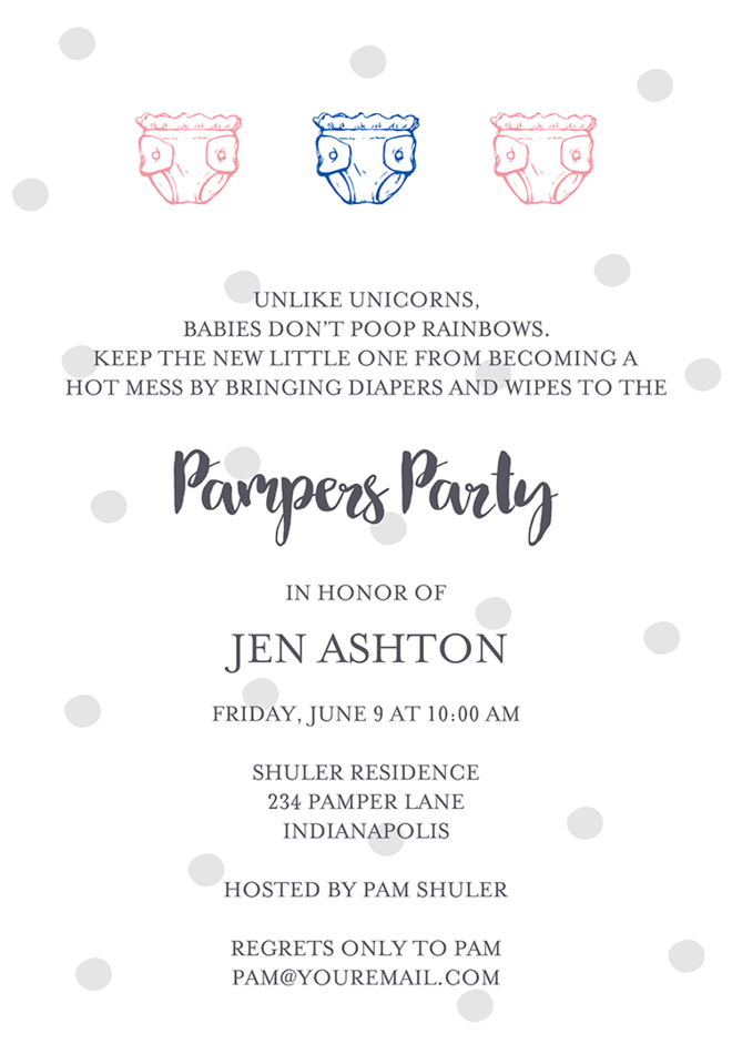 22 baby shower invitation wording ideas diaper shower invitation wording 3 filmwisefo Gallery