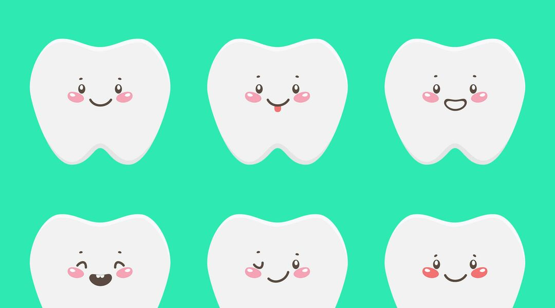 Fun illustration baby teeth
