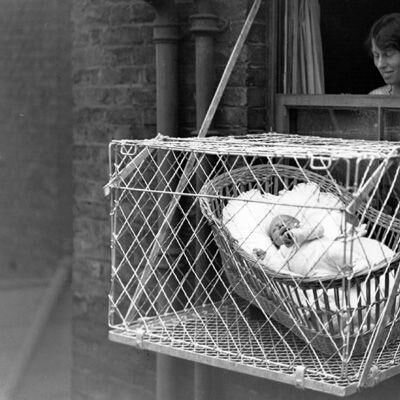 37ff2655ea Baby Cages  How Kids Got Fresh Air In The 1930s