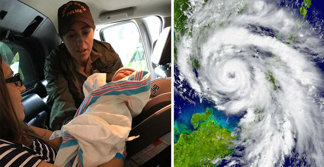Baby delivered during hurricane