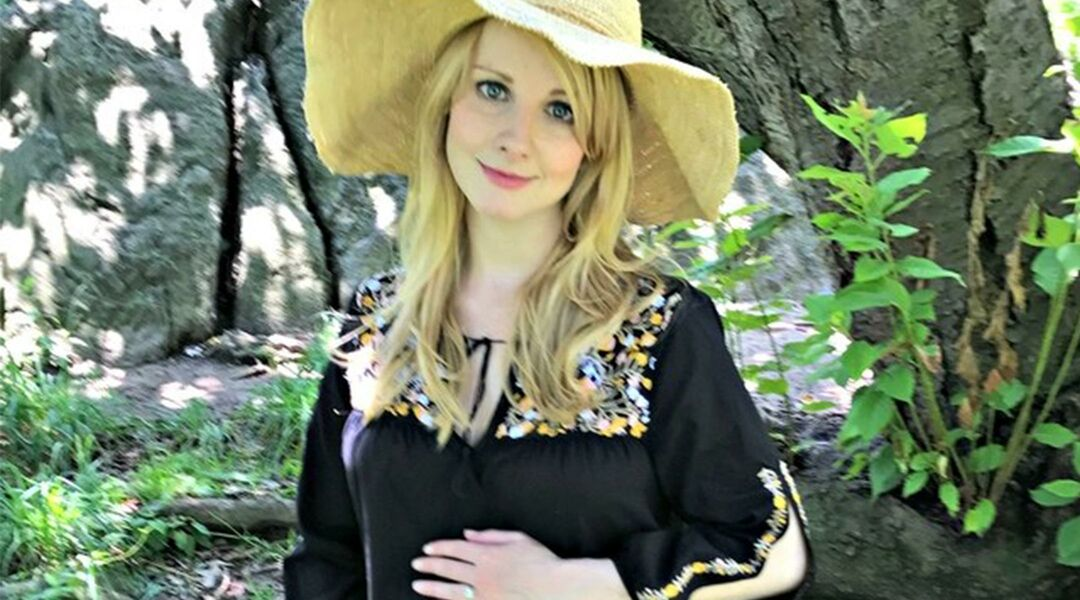 Pregnant actress Melissa Rauch