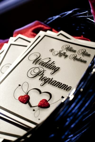 Black and Red Intimate Celebration