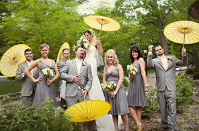 Cort & Samantha's Wedding; Gray and Yellow DIY all the way
